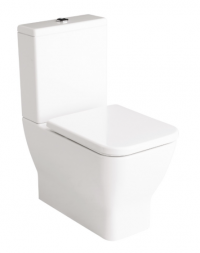 Emma Square Toilet Suite Back Entry Soft Close Seat