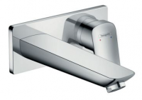 Hansgrohe LOGIS Single Lever Basin Mixer with Plate 195mm Spout