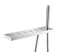 Eneo Shelf with Hand Shower Holder and Drain Holes 40cm