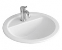Villeroy & Boch Loop & Friends Round Drop-In Basin with Tap Shelf 530mm