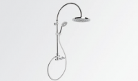 Brodware Yokato Exposed Overhead Shower Set with Round Handshower