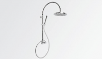 Brodware Yokato Exposed Overhead Shower Set with Single Lever Mixer and Handshower