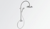 Brodware Yokato Exposed Overhead Shower Set with Single Lever Mixer and Round Handshower