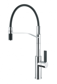 Armando Vicario LUZ-2 Black Spout and Lever Kitchen Mixer