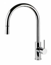 Gessi Oxygene Gooseneck Sink Mixer With Pull-Out