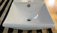 Square Curved Above Counter Basin
